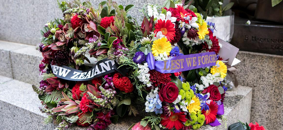 Commemoration wreathes Cenotaph