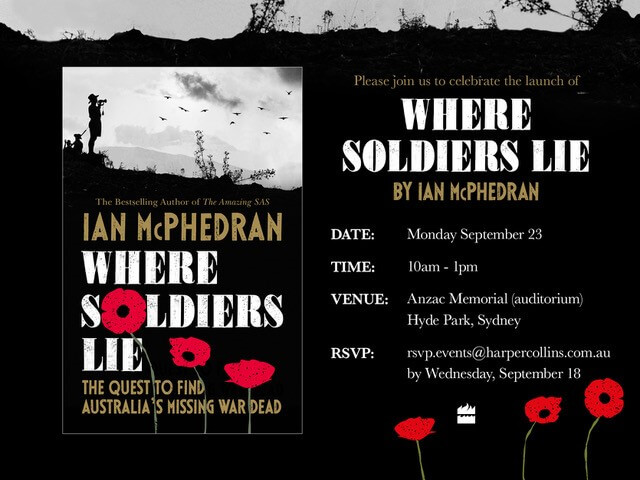 Community Noticeboard - Where Soldiers Lie book launch