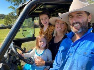 Luke Evans with family