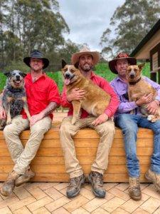 Luke Evans with mates